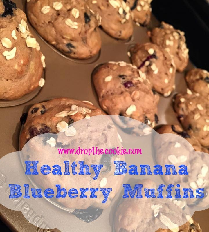 healthy blueberry muffins text